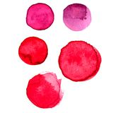 Pink colors watercolor paint stains Royalty Free Stock Photography