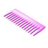 Pink comb. Isolated on white background Royalty Free Stock Image