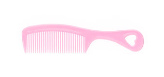 pink comb, isolated on white  background Royalty Free Stock Photos