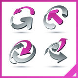 Pink company signs. Stock Photography