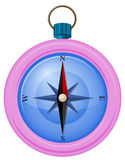 A pink compass Royalty Free Stock Image