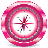 Pink compass Stock Photos
