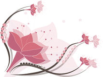 Pink composition. Composition in pink with flowers Royalty Free Stock Photo