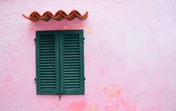 Pink, Concrete, Wall, Window Royalty Free Stock Images