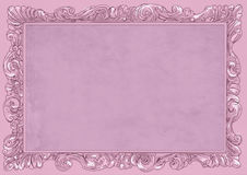 Pink conice for painting or postcard Vintage frame border retro. Conice for painting or postcard linework Black Conice for painting or postcard Vintage frame Stock Photography