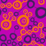 Pink Connected spots pattern. Seamless Wallpaper Pattern.. Connected spots pattern in violet and pink color. Seamless Wallpaper Pattern. Lines lead from one Stock Photo