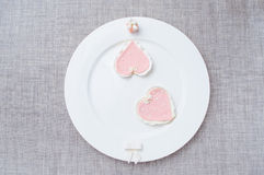 Pink cookies Stock Images