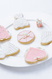 Pink cookies Stock Photography