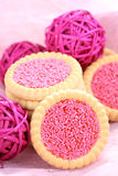 Pink cookies Royalty Free Stock Images
