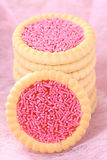 Pink cookies Royalty Free Stock Image