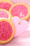 Pink cookies Stock Image