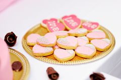 Pink cookies Royalty Free Stock Photography