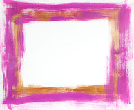 Pink & copper painted frame Stock Images