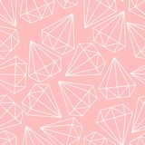 Vector pink or coral color pattern, texture, background with diamonds, crystals, brilliants. vector illustration