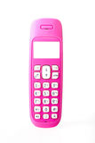 Pink Cordless Telephone Royalty Free Stock Image