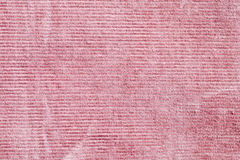 Pink corduroy Stock Photo