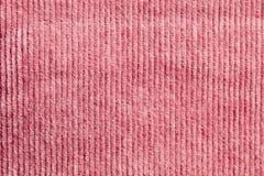 Pink corduroy Stock Image