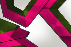 Pink corners overlap, abstract background Stock Photo