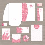 Pink Corporate Identity Template Vector Royalty Free Stock Photos