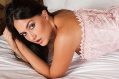 Pink corset Royalty Free Stock Photo