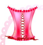 pink corset Stock Image