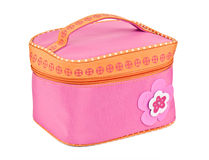 Pink cosmetic bag Royalty Free Stock Photos