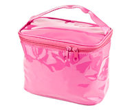 Pink cosmetic bag Royalty Free Stock Images
