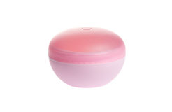 Pink cosmetic jar with cream Stock Image