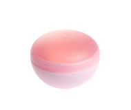 Pink cosmetic jar with cream Stock Images