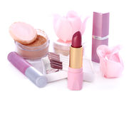 Pink cosmetic set Royalty Free Stock Photography