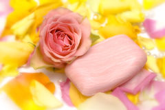 Pink cosmetics Stock Images