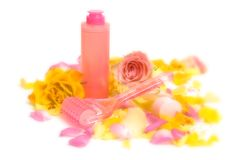 Pink cosmetics Stock Photography
