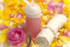 Pink cosmetics Stock Photos