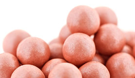 Pink cosmetics rouge balls Stock Images