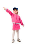 Pink Costume Smiling Little Girl. Royalty Free Stock Photo