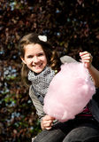Pink coton candy Stock Photos