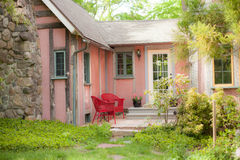 Pink Cottage Porch Royalty Free Stock Photos