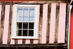 Pink cottage wall Stock Photography