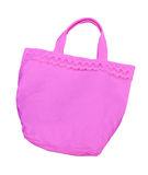 Pink cotton bag isolated Stock Images