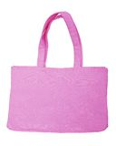 Pink cotton bag Stock Photos