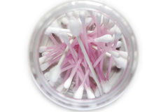 Pink cotton bud Stock Images