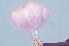 Pink cotton candy Stock Images