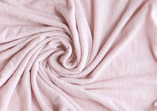 Pink cotton. Fabric swirl background Stock Image
