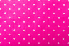 Pink cotton fabric texture. With dots Stock Photo
