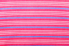 Pink cotton fabric texture. With stripes Stock Image