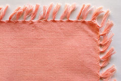 Pink cotton napkin. Natural cotton pink napkin - can be used as background Stock Images