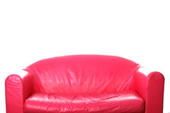 Pink Couch on White Stock Image