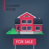 Pink country house Royalty Free Stock Photos