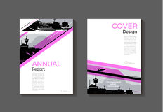Pink cover abstract modern  cover book Brochure template, design Royalty Free Stock Photos