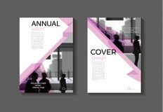 Pink cover design modern book cover abstract Brochure cover   Royalty Free Stock Images